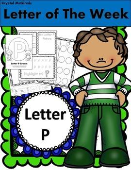 Alphabet Letter P! (13 Letter Recognition/Sound Activites)