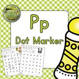 Alphabet Letter P Dot Marker Center