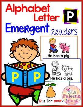 Alphabet Letter P Emergent Readers
