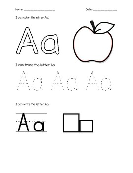 Alphabet Letter Pages