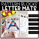 Pattern Block Alphabet Letter Mats | Fine Motor | Read It, Build It, Write It