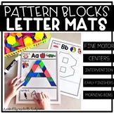 Pattern Block Alphabet Letter Mats | Fine Motor | Read It,