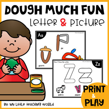 Alphabet Letter & Picture Playdough Mats