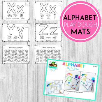 Alphabet PlayDough Mats