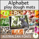 Alphabet Letter Playdough Mats in Queensland Beginners Font