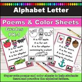 Alphabet Letter Poem Posters and Color Sheets l Letters A-