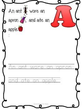 Alphabet Letter Poems