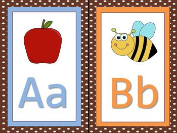 Alphabet Letter Posters - Chocolate Themed