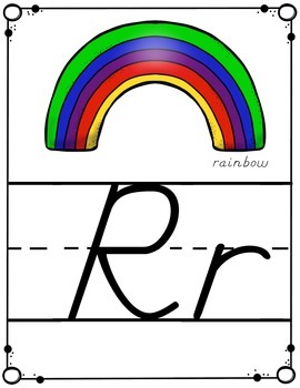 Alphabet Letter Posters -- Modern Manuscript
