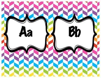 Alphabet Letter Posters Rainbow