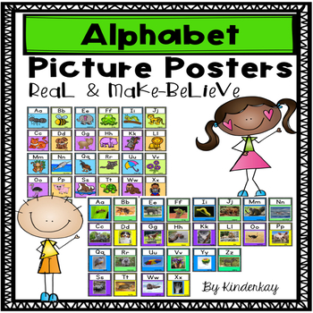 Alphabet Letter Posters - Realistic and Make-Believe Photo Cards