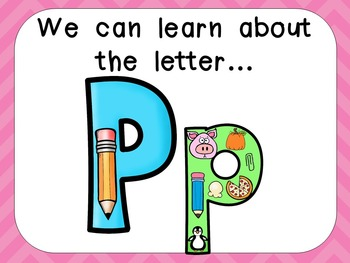 Alphabet Letter Pp PowerPoint Presentation- Letter ID, Sounds, and Handwriting