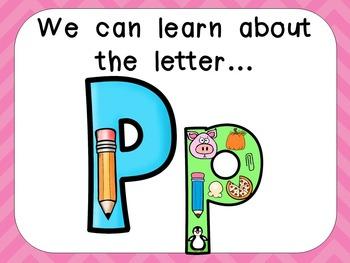 Alphabet Letter Pp PowerPoint Presentation- Letter ID, Sou