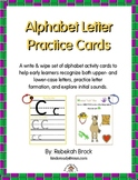 Alphabet Letter Practice Cards: A Write & Wipe Activity for Early Learners