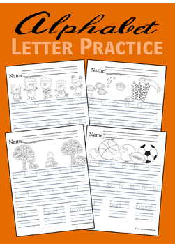 Alphabet Letter Practice - Kindergarten & 1st Grade