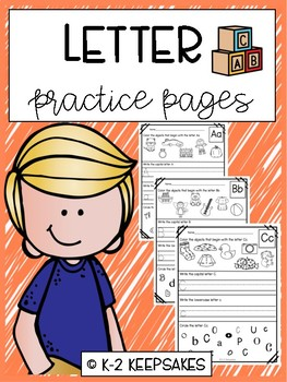 Alphabet Letter Practice Pages