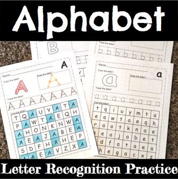 Alphabet Letter Practice Pages with Primary Lines