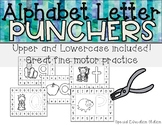 Alphabet Letter Hole Punch Cards