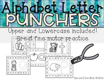 Letter Hole Puncher.Alphabet Letter Hole Punch Cards