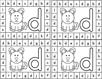 Alphabet Letter Hole Punch Cards