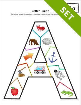 photograph regarding Alphabet Puzzle Printable titled Alphabet Letter Puzzle Game Fastened PRINTABLE Colour