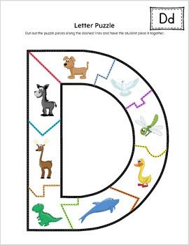 Alphabet Letter Puzzle Activity Set PRINTABLE {COLOR}