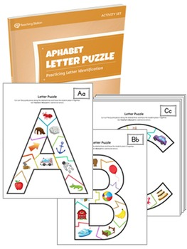 Alphabet Letter Puzzle Activity Set PRINTABLE {COLOR+BW}