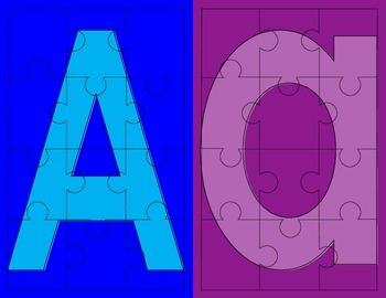 Alphabet Letter Puzzle Bundle
