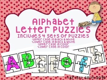 Alphabet Letter Puzzles- 4 sets