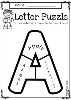 Alphabet Letter Puzzles Bundle (Uppercase and Lowercase)