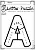 Alphabet Letter Puzzles Freebies