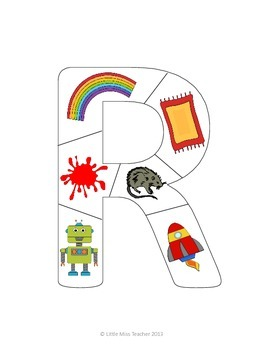 Alphabet Letter Puzzles (Upper-case Letters) - All 26 Letters Included!
