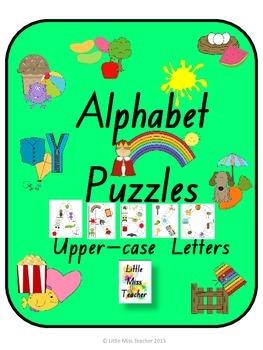 Alphabet Letter Puzzles (Upper-case Letters) - All 26 Lett