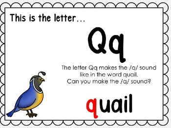 Alphabet Letter Qq Interactive Power Point. Kindergarten