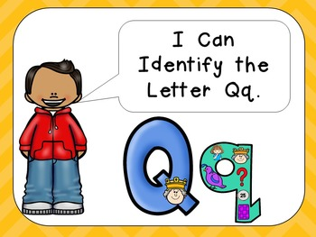 Alphabet Letter Qq PowerPoint Presentation- Letter ID, Sounds, and Handwriting