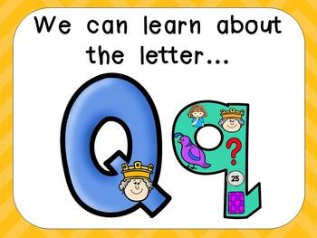 Alphabet Letter Qq PowerPoint Presentation- Letter ID, Sou