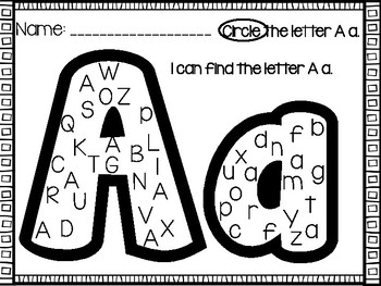 Alphabet Letter Recognition Activity: Alphabet Practice