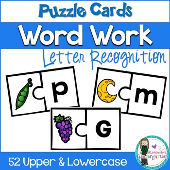 Puzzle Game: Letter Recognition Beginning Sounds. Match le