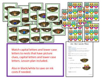 Alphabet Letter Recognition Match Owl Theme