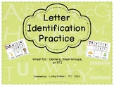 Alphabet Letter Recognition - Small group, individual, or RTI