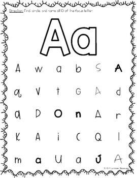 ABC Letter Worksheets: Find and Circle