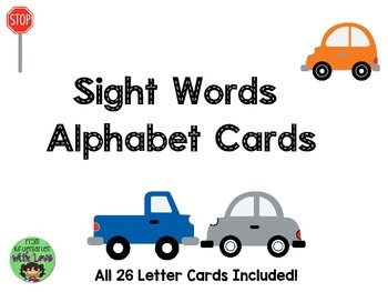 Alphabet Letter Road Tracers for Cars