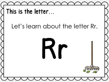 Alphabet Letter Rr Interactive Power Point. Kindergarten