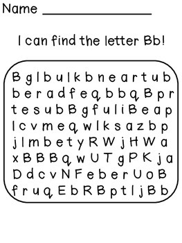 Alphabet Letter Searches