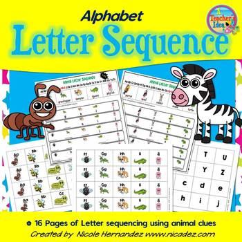 Alphabet Letter Sequence Writing Mats