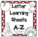 Alphabet Letter Sheets A-Z