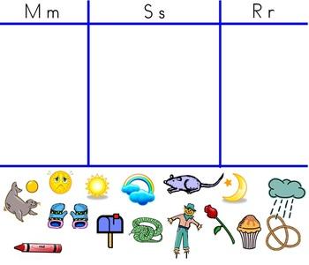 Alphabet Letter Smarboard Sort