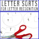 Letter Sorting Worksheets, Cut and Paste Mats, or Alphabet Practice