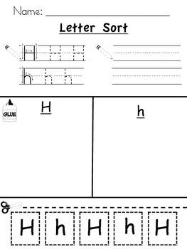 Alphabet Letter Sort - Capital / Lower Case {L.K.1a, L.K.5a, RF.K.1d}