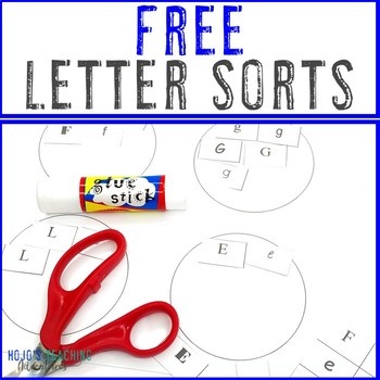 FREE Alphabet Letter Sort and Recognition for preK, Kindergarten, or 1st Grade